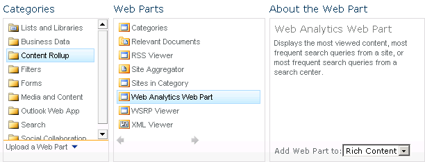 sharepoint 2010 add web part