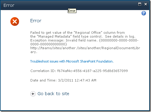 sp2010-managed-metadata-field-error