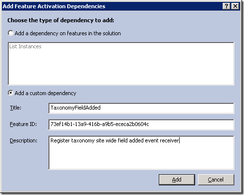 vs2010-feature-activation-dependency