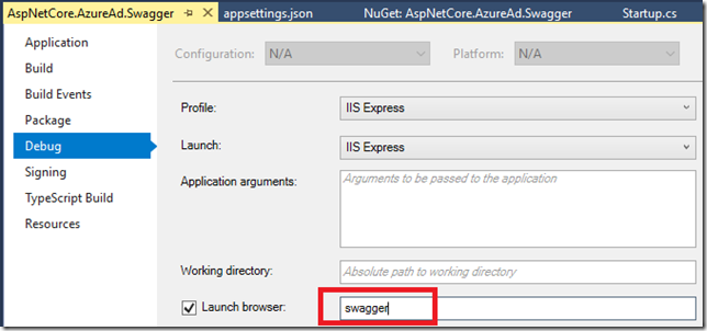 Configure Swagger to authenticate against Azure AD at SharePoint Config